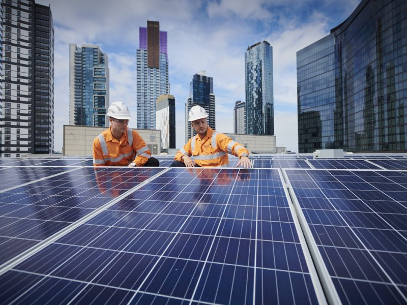 crown casino solar install